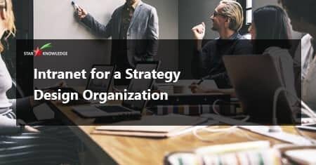 Intranet for strategy design organization